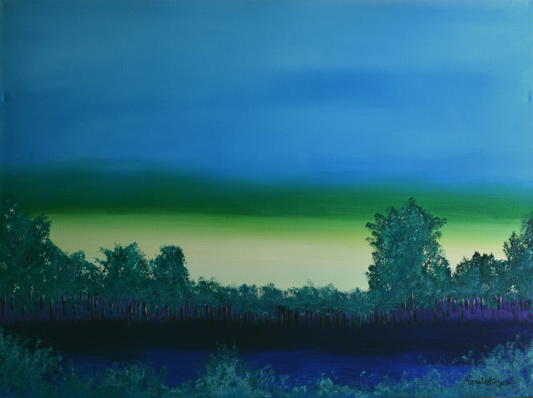#210 - Feeling So Blue - 36 x 48 inch Acrylic on Canvas