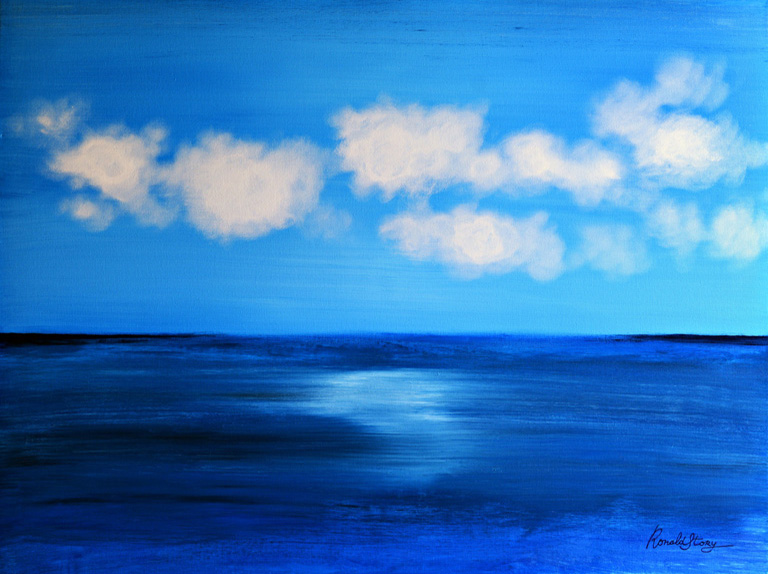 #270 - Floating Consciousness - 36 x 48 inch Acrylic on Canvas