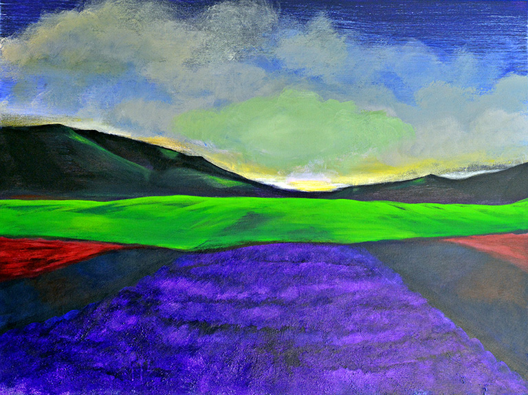 #330 - Lavender - 36 x 48 inch Acrylic on Canvas