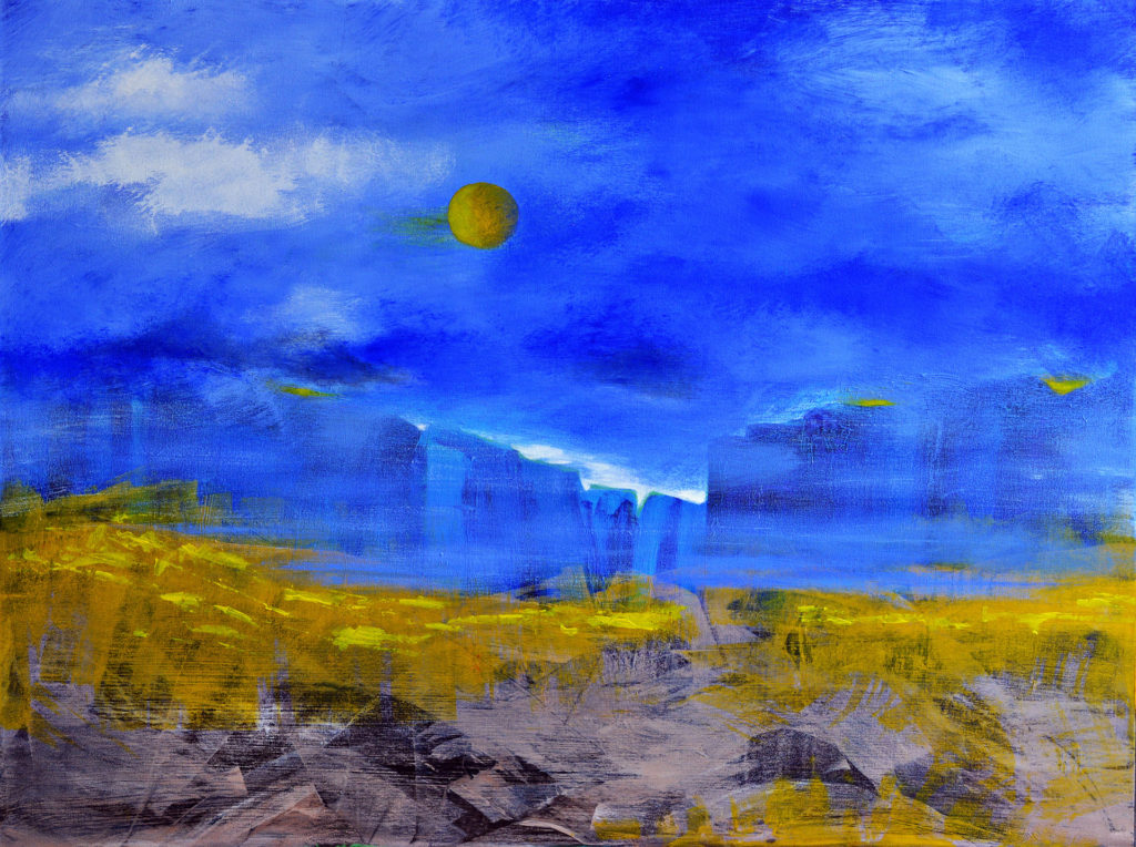 #360 - Coastal Breeze - 36 x 48 inch - Acrylic on Canvas