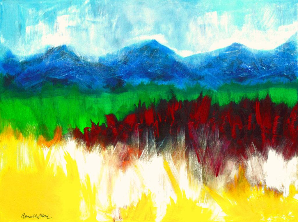 #120 - Mesmerizing Wonder Land - 36 x 48 inch - Acrylic on Canvas
