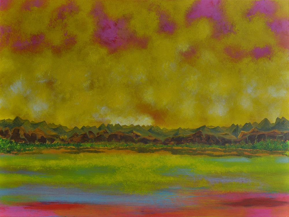 #280 - A PROMISED lAND - 36 48 INCH ACRYLIC ON CANVAS